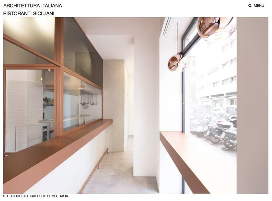 Tritalo in copertina su architettura italiana